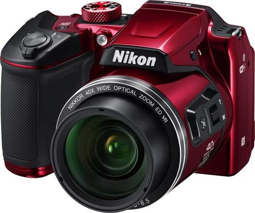 Купить Цифровой фотоаппарат Nikon, Coolpix B500 Red