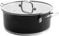Кастрюля с крышкой Lacor Cookware Black, 4,2 л (44024)