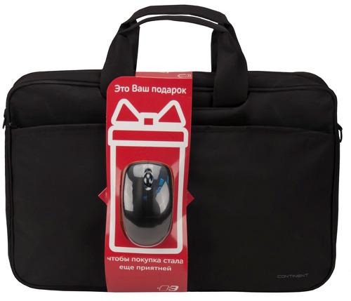 Купить Сумка для ноутбука Continent, CC-012 Black + Мышь
