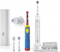 Набор электрических зубных щеток Braun Oral-B Genius 8200 D701.535.5XC White + Viltaity Stages Power D10.513K Mickey Kids