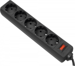 Сетевой фильтр Defender ES 5, 5 м, черный (99486)