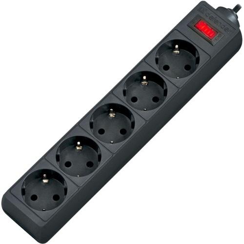 Сетевой фильтр Defender ES 3, 3 м, черный (99485)