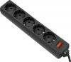 Сетевой фильтр Defender ES 1.8, 1,8 м, черный (99484)