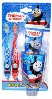 Набор дентальный Dr. Fresh Thomas&Friends Dental Set: 2 мягкие зубные щетки + зубная паста, 75 мл + стаканчик (TF-15)