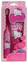 Набор для чистки зубов Dr. Fresh Hello Kitty TURBO Set: зубная щетка Turbo (soft) + батарейка + зубная паста, 75 мл (HK-16)