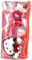 Дорожный набор для чистки зубов Dr. Fresh Hello Kitty: мягкая зубная щетка на присоске + защитный колпачок + зубная паста, 28 г + флоссеры, 4 шт (HK-12)
