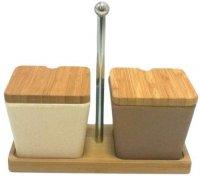 Набор для специй из бамбука Frybest 2 предмета, BM-05-3