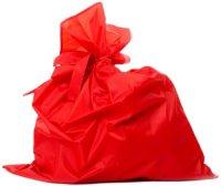 Мешок Деда Мороза Jeanees Красный, М-1