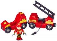 Пожарный поезд с вагоном Brio Fire Engine (33576)