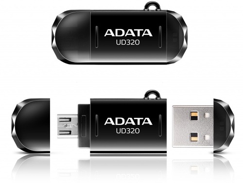 Купить USB-флешка ADATA, DashDrive UD320 64Gb (AUD320-64G-RBK)