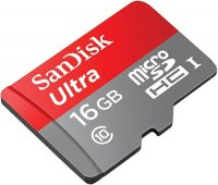 Карта памяти SanDisk Ultra microSDHC 16Gb Class 10 (SDSQUNC-016G-GN6IA)