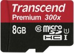 Карта памяти Transcend Premium 300х microSDHC 8Gb (TS8GUSDU1)