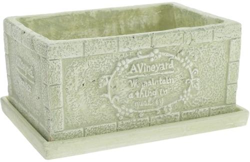 Горшок керамический с поддоном  со скидкой