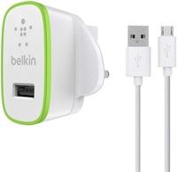 Сетевое зарядное устройство Belkin USB + кабель microUSB 2.1A White (F8M667VF04-WHT)