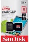 Карта памяти SanDisk Ultra microSDHC 8Gb (SDSDQUAN-008G-G4A)