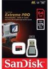 Карта памяти SanDisk Extreme Pro microSDXC 64Gb (SDSQXPJ-064G-GN6M3)