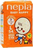 Подгузники Nepia Premium Soft Tape, L 9-14 кг, 54 шт (512648)