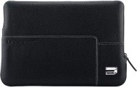 Чехол для ноутбука Urbano Leather Zip Folder для Apple Macbook Air 13, Black (UZRSA-01)