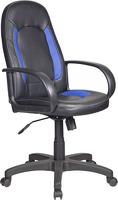 Купить Кресло руководителя Бюрократ, CH-826/B+BL Черный/синий