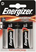 Батарейки Energizer D/LR20, 2 шт (E300152200)