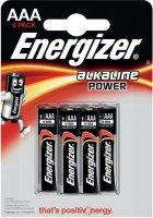 Батарейки Energizer Alkaline Power LR03 AAA, 6 шт (E300132500)