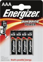 Батарейки Energizer Alkaline Power LR03 AAA, 4 шт (E300132600)