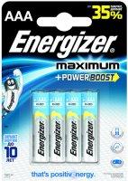 Батарейки Energizer Maximum AAA, 4 шт (638398)