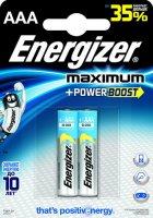 Батарейки Energizer Maximum AAA, 2 шт (638397)
