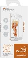 Защитное стекло с рамкой 3D InterStep для Apple iPhone 6/6s White (IS-TG-IPHON6WHT-000B202)