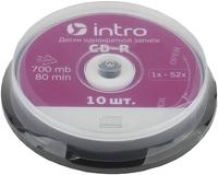 CD-R диски Intro 700Mb 52x Cakebox, 10 шт (UL120230A8L) фото