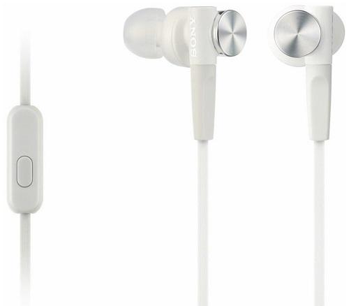 Наушники с микрофоном Sony MDR-XB50AP White