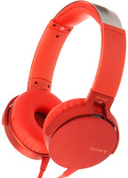 Наушники с микрофоном Sony MDR-XB550AP Red