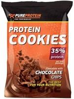 Печенье спортивное PURE PROTEIN Protein Cookies, шоколадное с кусочками шоколада, 12 уп х 2 печенья (3610351)