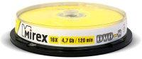 DVD-R диск Mirex 4.7GB 16x 10 шт (202400)