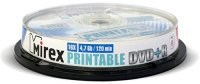 DVD+R диск Mirex Printable 4.7GB 16x 10 шт (204596)