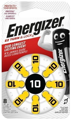 Батарейки для слухового аппарата Energizer Zinc Air 10 PS TL8, 8 шт