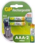 Аккумуляторы GP АAА (HR03) 2 шт. (70PROAAAHC-CR2)