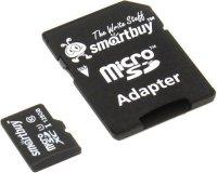 Карта памяти Smartbuy microSDXC 128Gb Class 10 UHS-1с адаптером SD (SB128GBSDCL10-01)