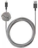Кабель Native Union Night Cable, Lightning, 3 м, Zebra (NCABLE-KV-L-ZEB)
