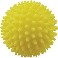 Игрушка для собак Зооник Мяч для массажа №2, 8,5 см, желтый (С039)