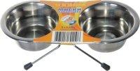 Подставка Зооник с металлическими мисками (0883)
