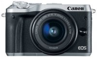 Цифровой фотоаппарат Canon EOS M6 Kit EF-M 15-45 IS STM Silver (1724C012AA)