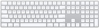 APPLE MAGIC KEYBOARD WITH NUMERIC KEYPAD WHITE (MQ052RS/A)
