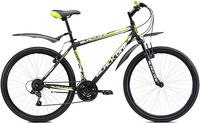 """Горный велосипед Black One Onix 26 (2017), рама 18"""", черный/зеленый (H000006588)"""