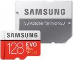 Карта памяти Samsung microSDXC Class 10 EVO+ V2 128Gb+SD adapter (MB-MC128GARU)