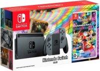 Игровая приставка Nintendo Switch серый + MK8