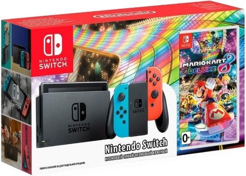 Купить Игровая приставка Nintendo, Switch красный/синий + MK8