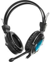 Гарнитура для ПК A4Tech HS-19-3, Black/Blue фото