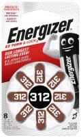 Батарейки для слухового аппарата Energizer Zinc Air 312 DP-8, 8 шт