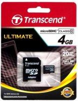 Карта памяти Transcend microSDHC 4Gb Class 10 (TS4GUSDC10)
